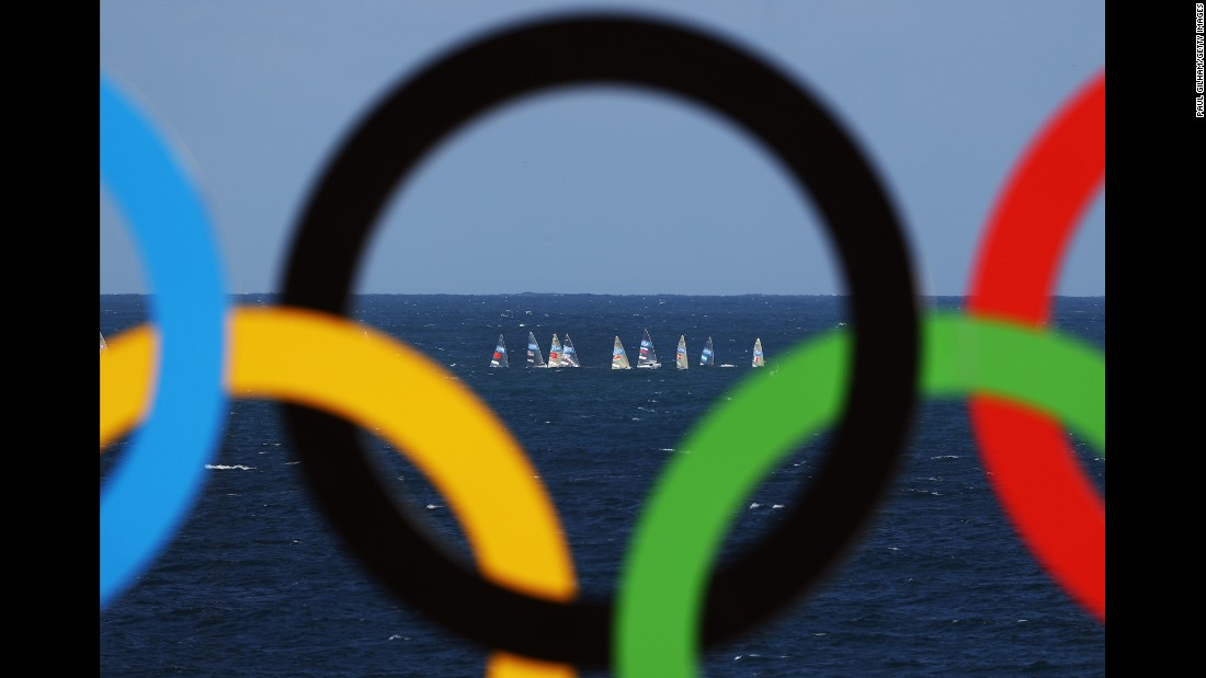 A sailing event gets underway.