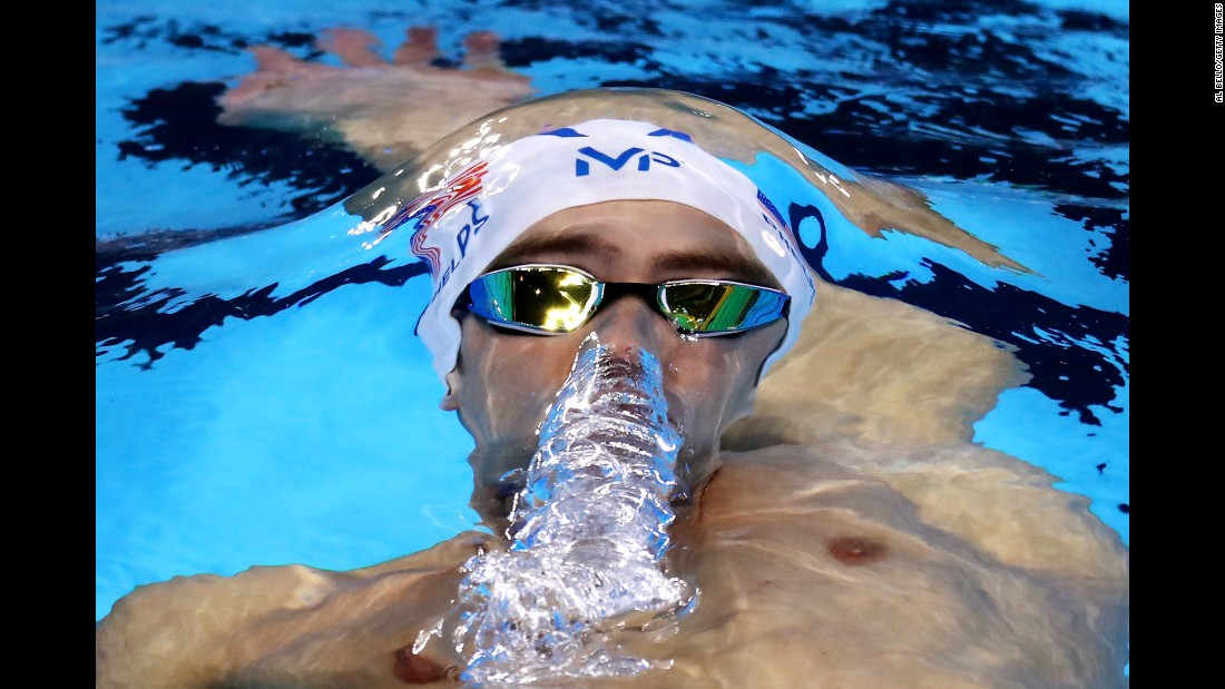 U.S. swimmer Michael Phelps, the most decorated Olympian of all time, competes in the 200-meter individual medley on Wednesday, August 10.