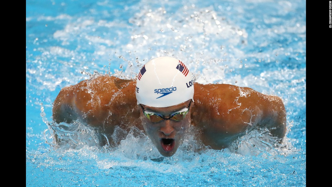 Lochte swims the 200-meter IM on Wednesday, August 10.