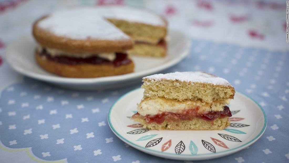 Few things complete an afternoon tea session as perfectly as a slice of homemade Victoria sponge. Named after Queen Victoria, this sponge cake with raspberry jam and -- sometimes -- cream has regularly been voted the nation's favorite.