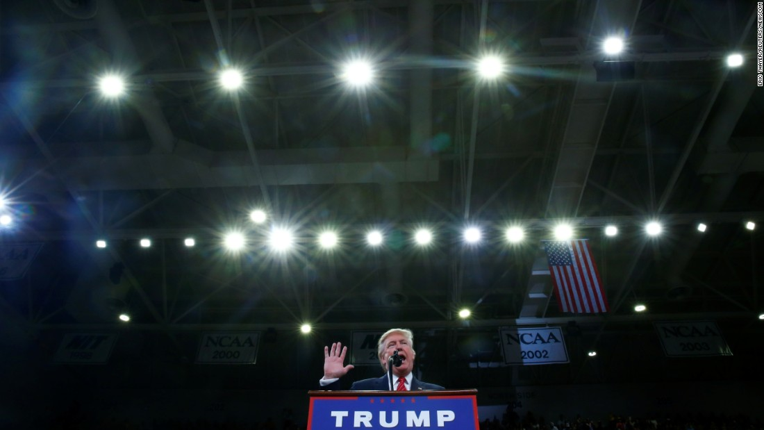 "Republican presidential nominee Donald Trump speaks at a campaign event in Wilmington, North Carolina, on Tuesday, August 9. Some of Trump's remarks about the right to bear arms <a href=""http://www.cnn.com/2016/08/09/politics/donald-trump-hillary-clinton-second-amendment/"" target=""_blank"">were interpreted as a threat of violence</a> against Democratic opponent Hillary Clinton. ""Hillary wants to abolish -- essentially abolish the Second Amendment,"" Trump said. ""By the way, if she gets to pick, if she gets to pick her judges, nothing you can do, folks. Although the Second Amendment people, maybe there is, I don't know."" Jason Miller, Trump's senior communications adviser, said in a statement that Trump was merely talking about the political power that Second Amendment supporters have as a group."