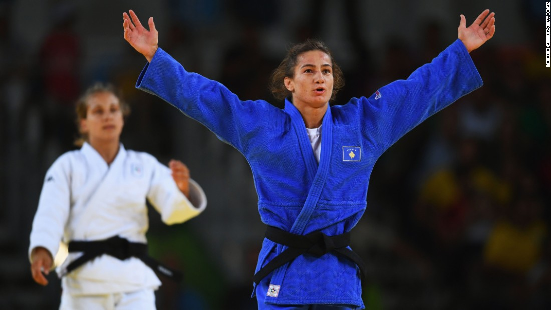 Judoka Majlinda Kelmendi won Kosovo's first Olympics medal ever, in the first year the country has been represented at the Olympics. (Oh, and she won gold.)