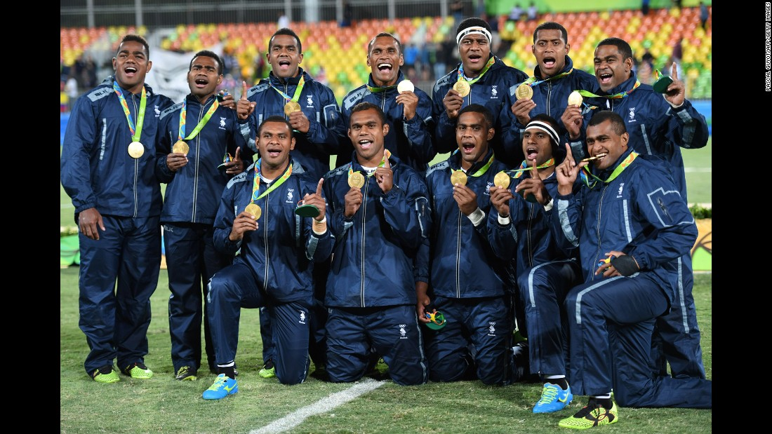 The Fijians were the favorites to win the brand-new men's rugby sevens event, and they did so in delightful form. Their win wasn't only Fiji's first Olympic gold, it was also the country's first medal(s!) ever.
