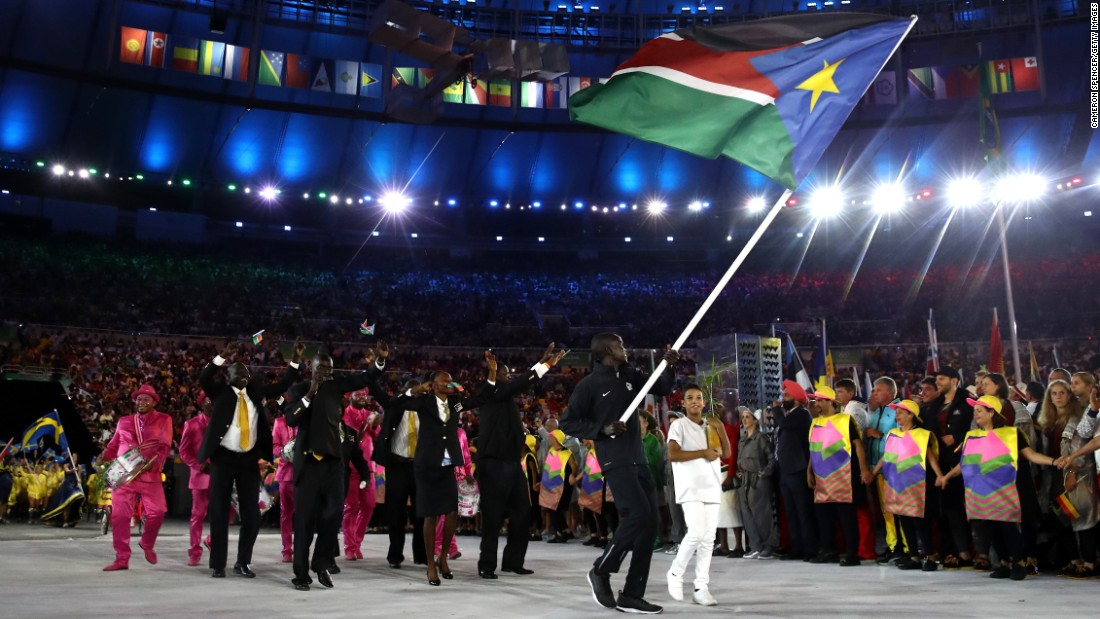 The new country made its Olympics debut with three athletes this year. South Sudan gained its independence from Sudan in 2011.