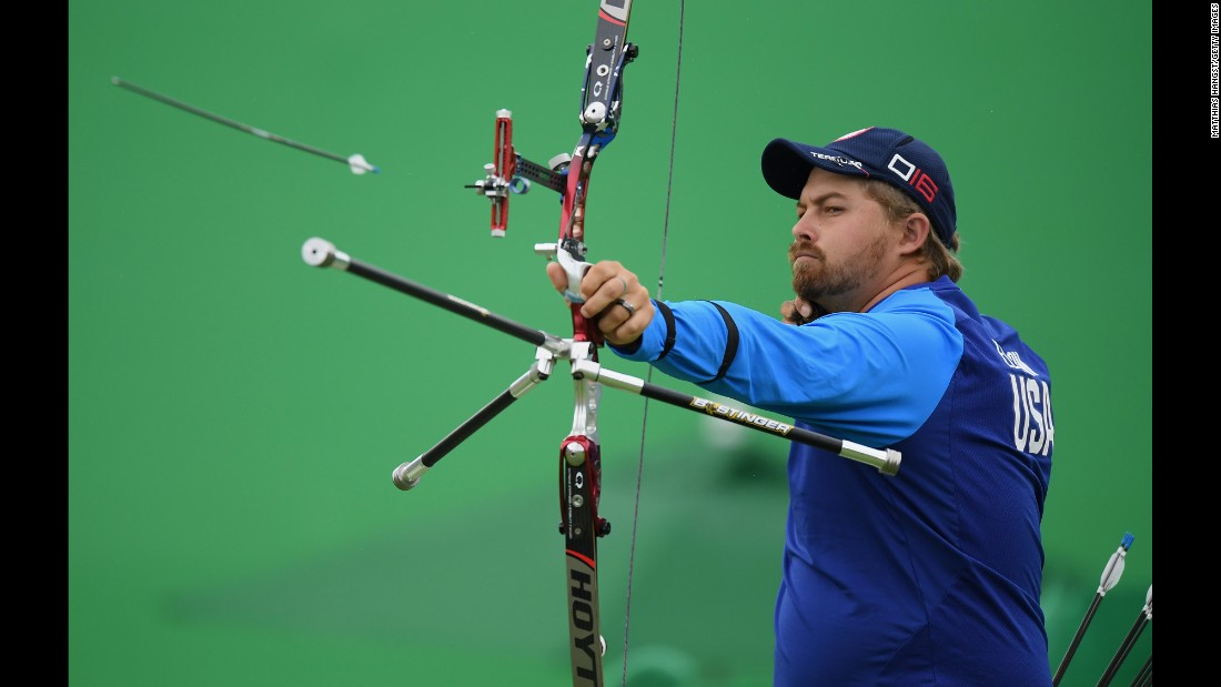 U.S. archer Brady Ellison won a bronze medal in the individual competition.