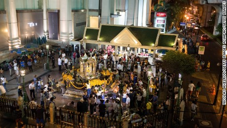Erawan shrine opened shortly after the deadly attack which killed 20 to remember those who had died.