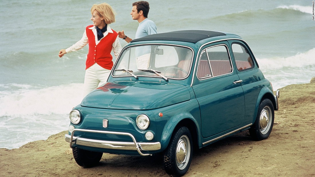 The Fiat 500 is still a surprisingly common sight in Italian villages. It was even smaller than the Mini, and the original version had just 13 horsepower.