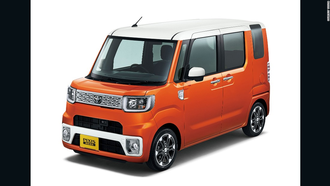 Japan's 'kei cars' offer tax benefits because of their tiny size and small engines. Most Japanese manufacturers offer them in their domestic market. Mini-MPVs like Toyota's Pixis Mega are popular choices.