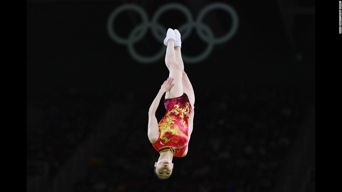 Chinese gymnast Li Dan won bronze in the trampoline event.