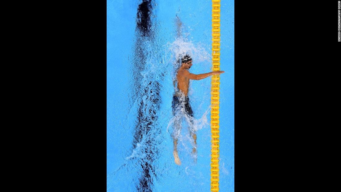 Italian swimmer Gregorio Paltrinieri won gold in the men's 1,500-meter freestyle final.