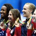 us women's 4x100 meter medley 0813