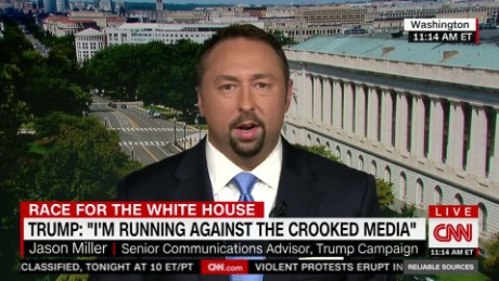 Jason Miller repeats Trump's accusations of 'rigged media'_00012217.jpg