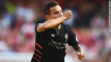 Philippe Coutinho turned the match in Liverpool's favor with a stunning double at the Emirates.