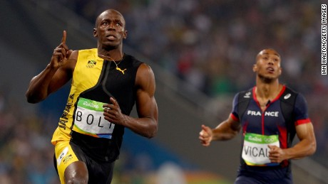 Bolt is the first Olympic sprinter to win three successive 100-meter gold medals.