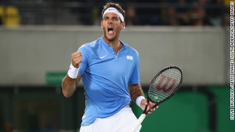 Del Potro was ranked 141 in the world at the start of the Olympics.