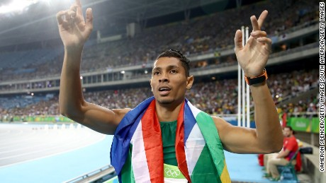 Wayde van Niekerk broke a record set by Michael Johnson in 1999.