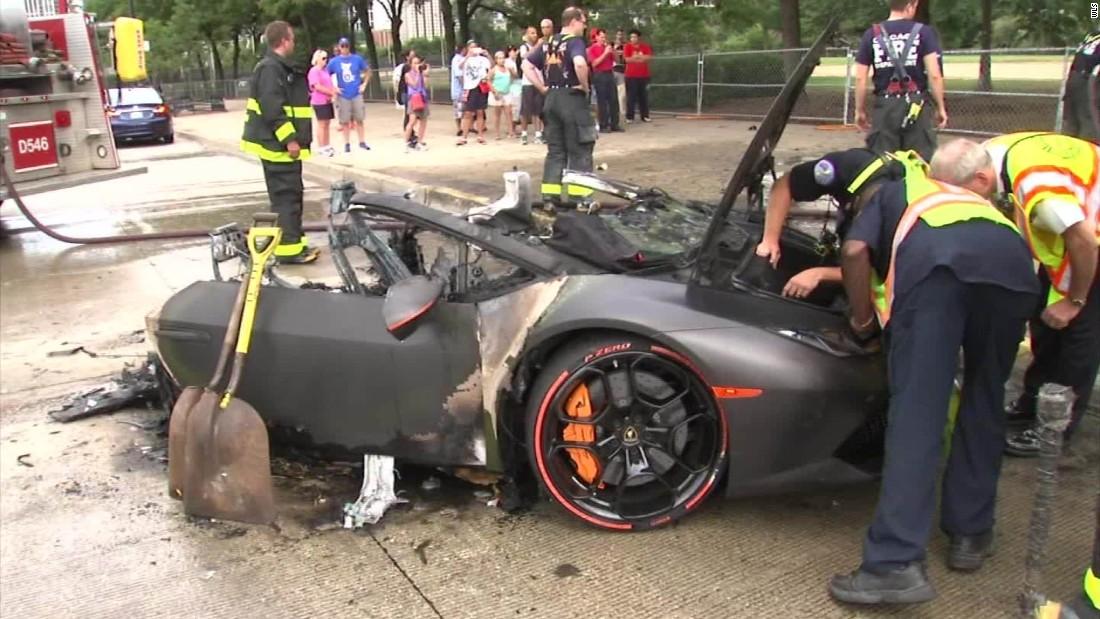 Crash Splits Lamborghini In Two Cnn Video
