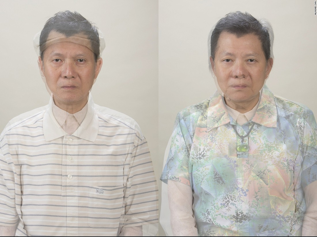 We're a lot like our family members, but just how much? In this installation,  Almond Chu hung a photo of himself, printed on a glass panel, in front of a series of photos of his relatives. The result is uncanny -- it's hard to tell where the family ends and the self begins.