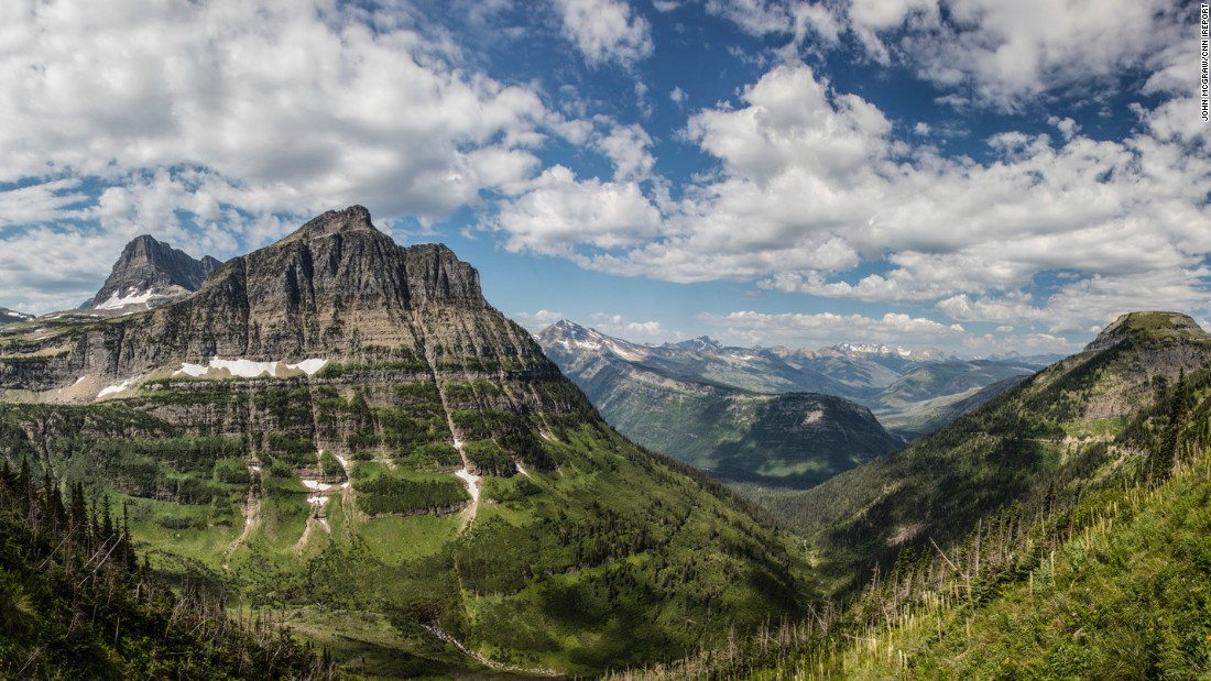 After years of only being able to take photos from the road and going on trips limited by his weight, McGraw took his first hiking trip with his wife, Diane, in August. They hiked nearly 8 miles to reach the top of Grinnell Glacier, seen in the distance on the Highline Trail.