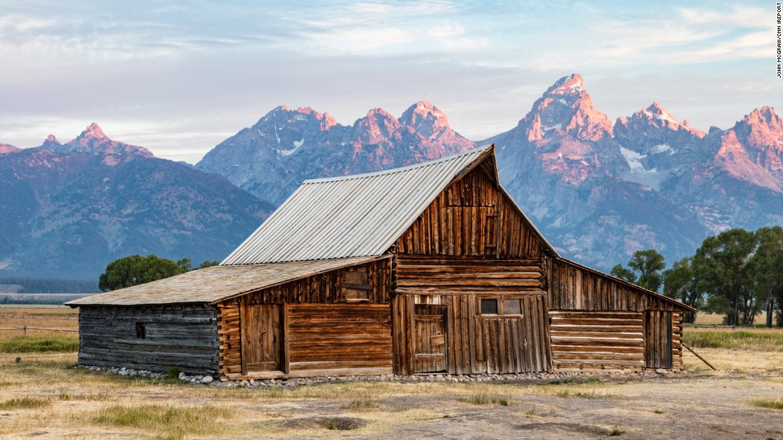The McGraws didn't stop at Glacier National Park. McGraw captured the iconic T.A. Moulton Barn on Mormon Row sitting in front of the Tetons at Grand Teton National Park.