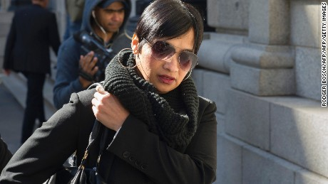 Zephany Nurse's biological mother Celeste Nurse leaves court Thursday.