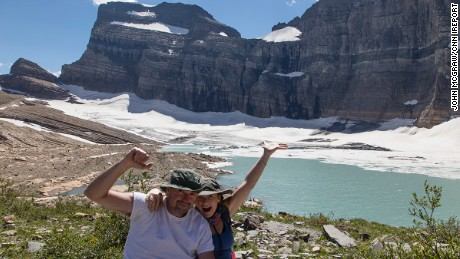 The McGraws at the top of Grinnell Glacier