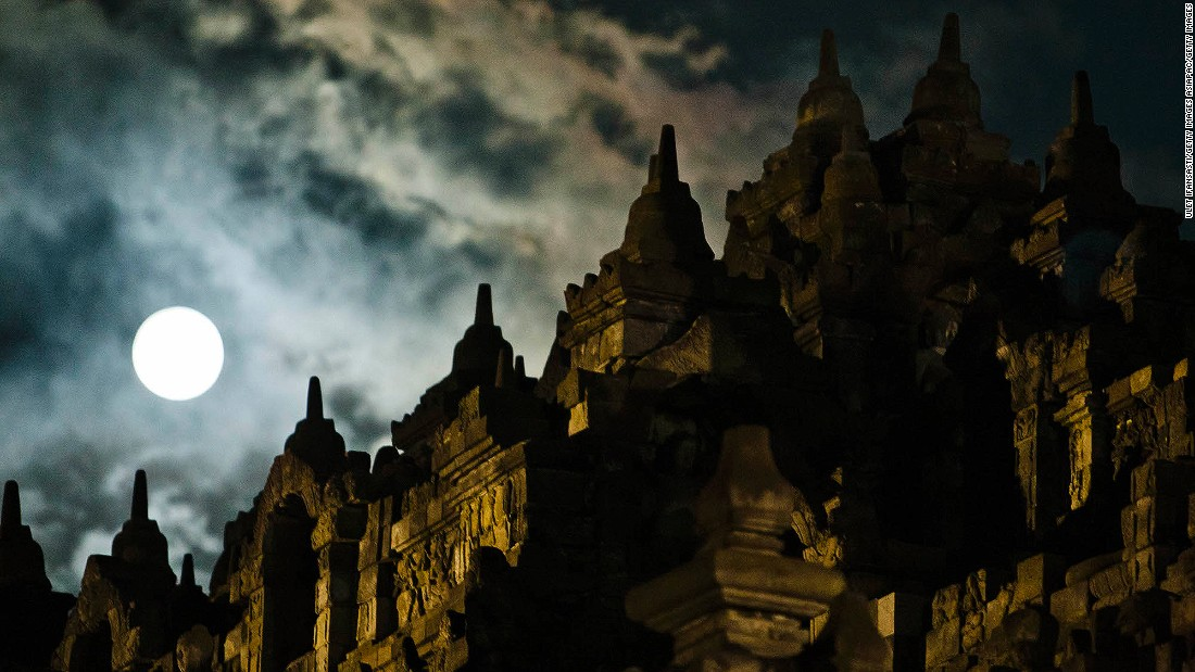 The 8th-century Buddhist temple of Borobudur is one of the world's greatest religious monuments. The UNESCO-listed complex is located outside of Yogyakarta, the cultural capital of the island of Java.