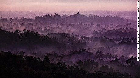 Indonesia's Buddhist Borobudur temple.