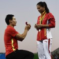 viral photos rio olympics Qin Kai He Zi Proposal