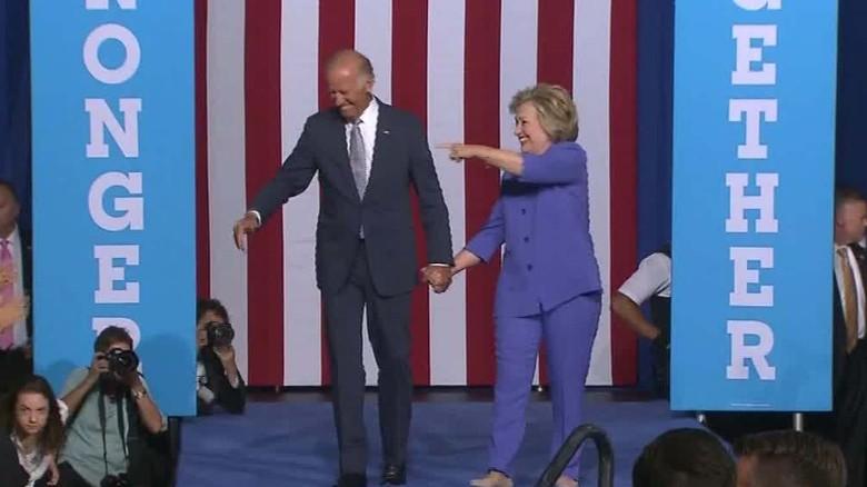 Joe Biden makes campaign trail debut