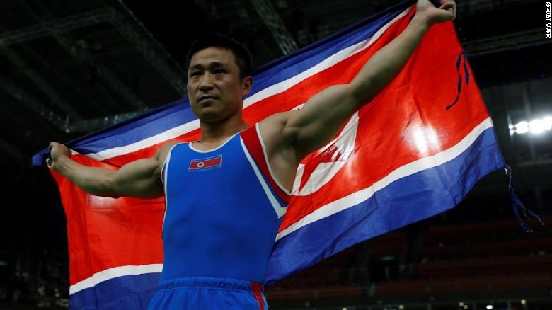 North Korean gymnast takes gold in Rio