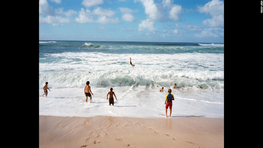Kids play on Oahu's North Shore.