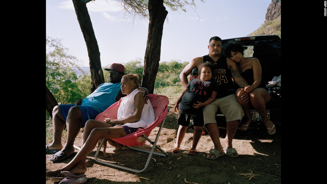 "A family on Oahu's west side. ""I spent a good amount of time with that family,"" Jung said. ""I must have taken I-don't-know-how-many shots because I didn't feel like I had the shot that I wanted. Afterward they were like, 'Oh, do you want to hang out?' """