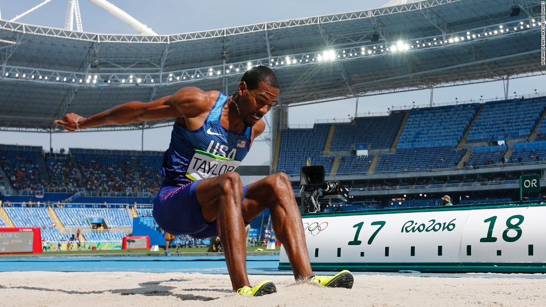 "American Christian Taylor <a href=""http://edition.cnn.com/2016/08/16/sport/christian-taylor-retains-triple-jump-olympic-title/index.html"" target=""_blank"">won gold</a> in the triple jump. He also won the event in the 2012 London Games."