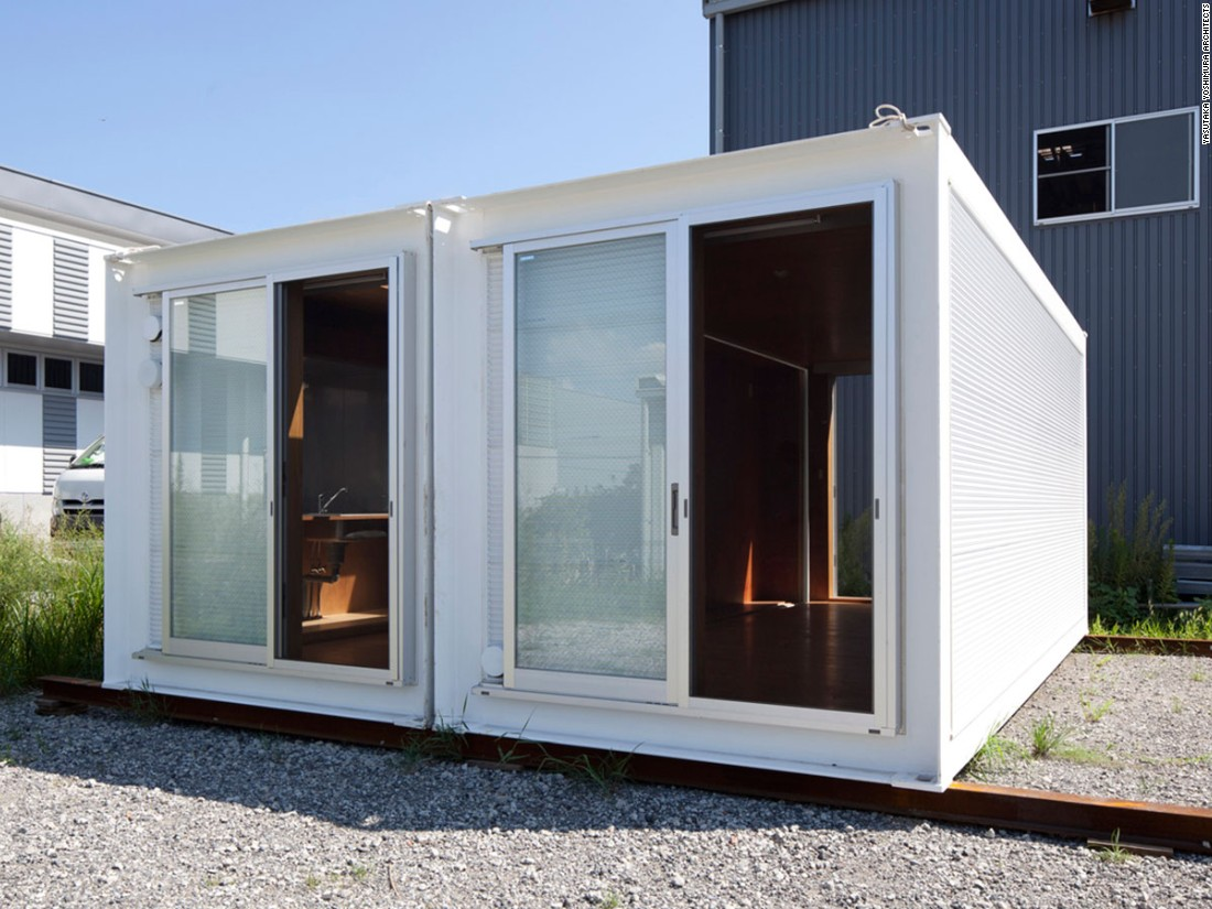 This petite abode is exactly what it sounds like, originally a 20-foot-long shipping container before Yasutaka Yoshimura Architects converted it into a home. Designed to help those who lost their homes in natural disaster, the transportable Ex-Container houses can be easily expanded or modified.