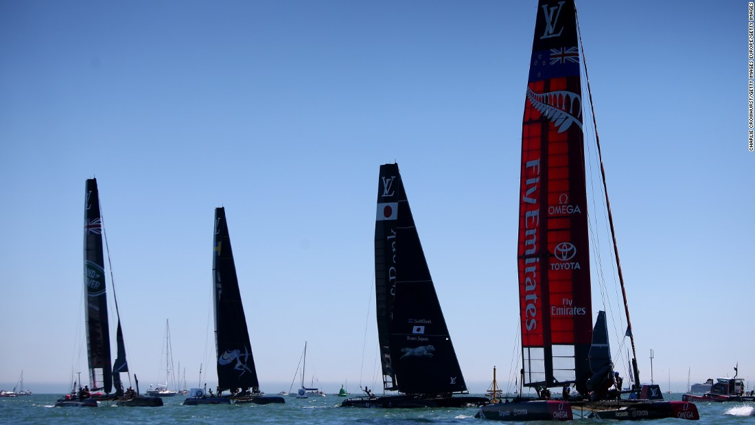 In December, the competing nations will launch their race boats for next year's America's Cup in Bermuda.