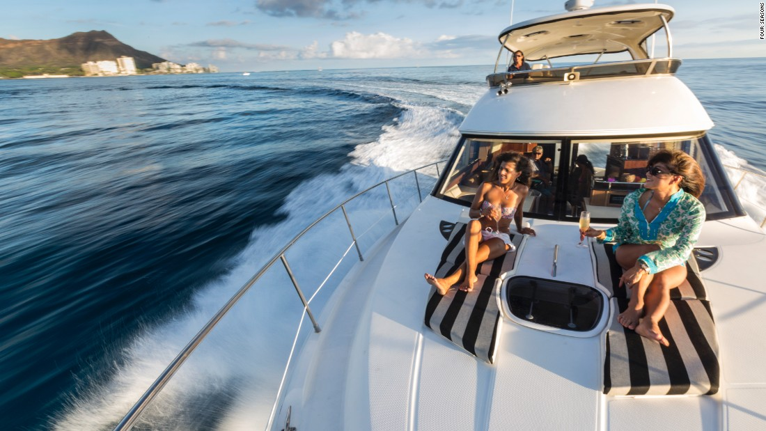 Arriving at the Four Seasons O'ahu at Ko Olina via the resort's own yacht is not a bad way to make an entrance.