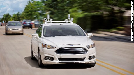 cnn money ford autonomous cars