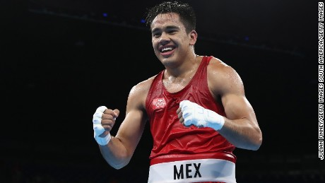RIO DE JANEIRO, BRAZIL - AUGUST 15:  Misael Uziel Rodriguez of Mexico celebrates defeating Hosam Hussein Bakr Abdin of Egypt in the mens middleweight 75kg during the Boxing at Riocentro on August 15, 2016 in Rio de Janeiro, Brazil.  (Photo by Julian Finney/Getty Images)