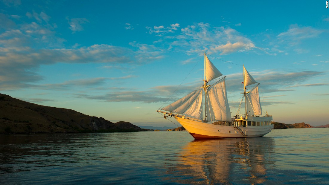 Alexa is a private Indonesian-style sailing yacht with just a single cabin but the full complement of staff,  including a private chef, spa therapist and dive crew. It can be chartered for trips around Komodo, Raja Ampat and Moyo.