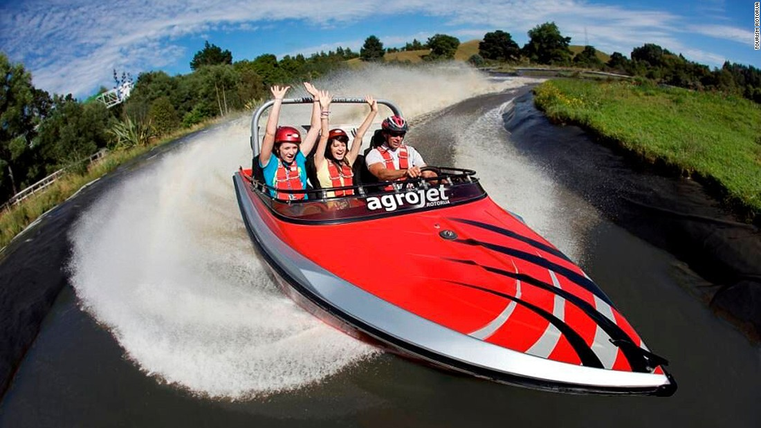 """The Agrojet is Agroworld's speedboat. With 450 horse power, it claims to be """"New Zealand's fastest jet boat."""""""