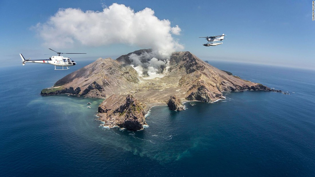 Scenic flights by helicopter or floatplane with Volcanic Air include tours to Whakaari or White Island. Pilots take the exact same routes as geological surveyors of the volcano.