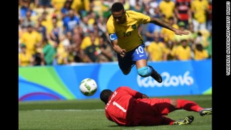 Neymar scored the fastest ever goal in the olympics against Honduras.