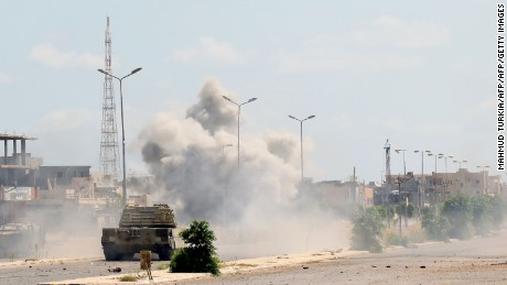 Government of National Accord forces have been fighting in Sirte for three months.