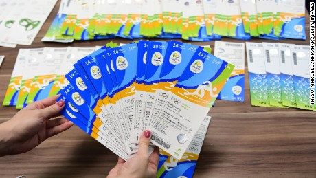 The Olympic tickets seized as part of a police sting into scalping.