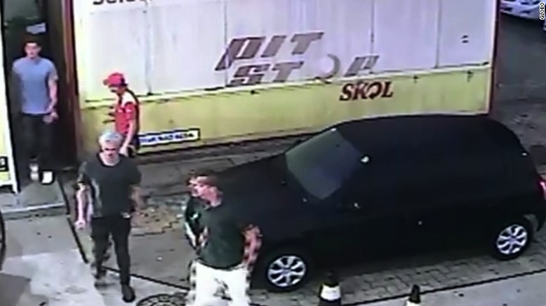 Raw surveillance video at Rio gas station