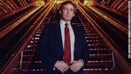 NEW YORK, UNITED STATES - 1989:  Real estate tycoon Donald Trump poised in Trump Tower atrium.