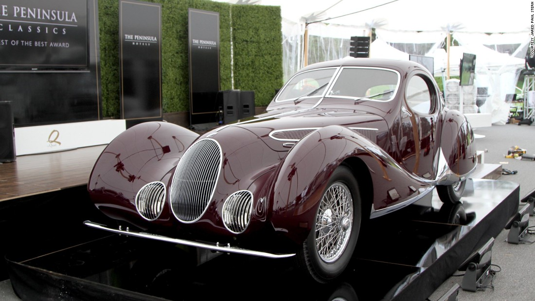 The Talbot's stunning coachwork was done by defunct the now-defunct Figoni et Falaschi firm.