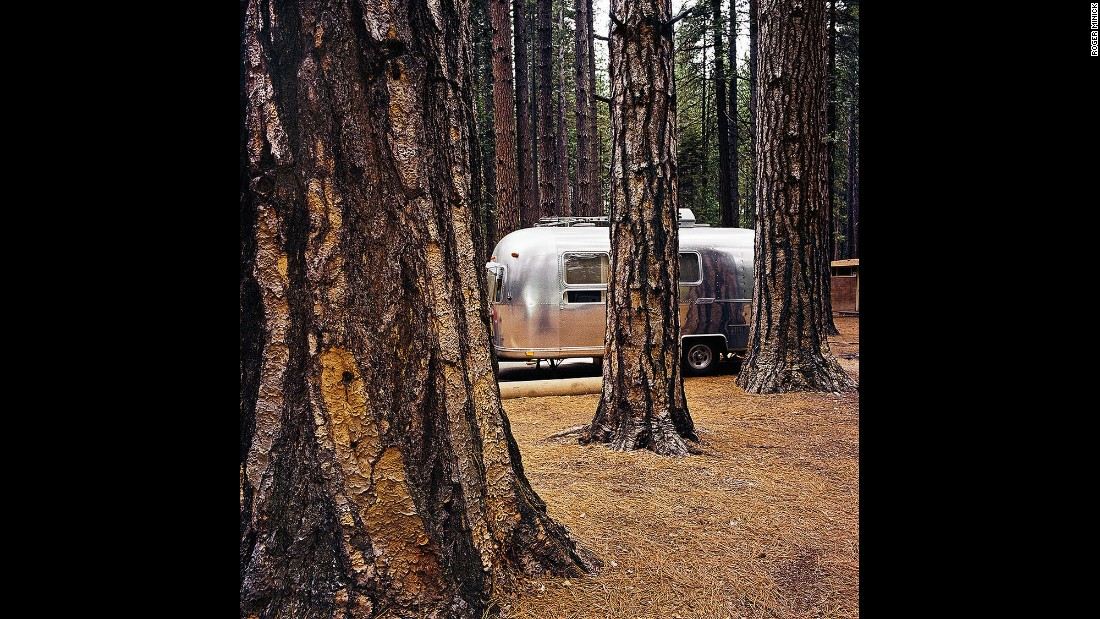<em>Airstream at Yosemite National Park, California, 1980. </em>Vehicle and landscape photos are the exception, not the norm, in the Sightseer series.