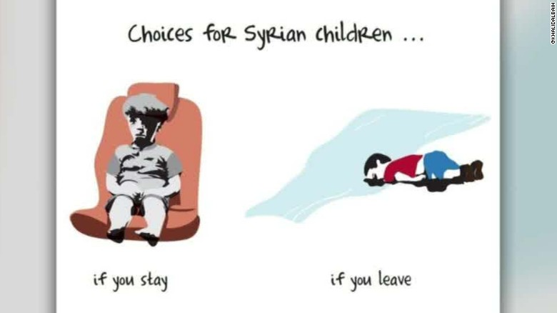 syrian toddler omran cartoonist khalid albaih walker interview_00003304